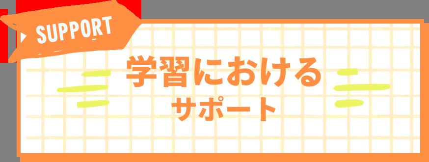 学習におけるサポート